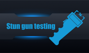 Stun gun devices testing workstation